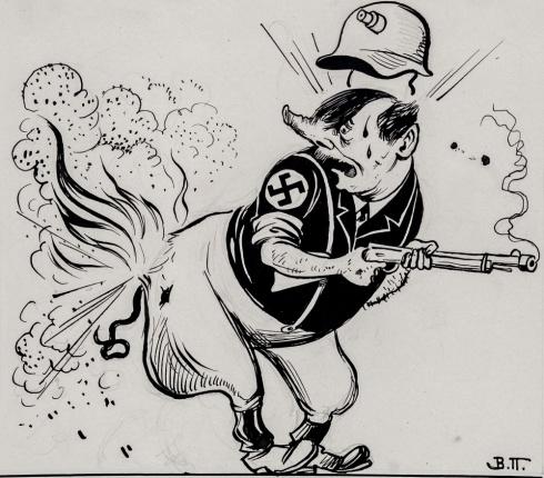 Карикатура на Гитлера. 1940-е