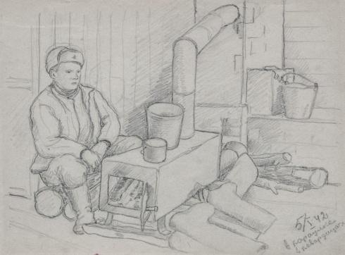 В карауле. В Кавардинцах. 1942