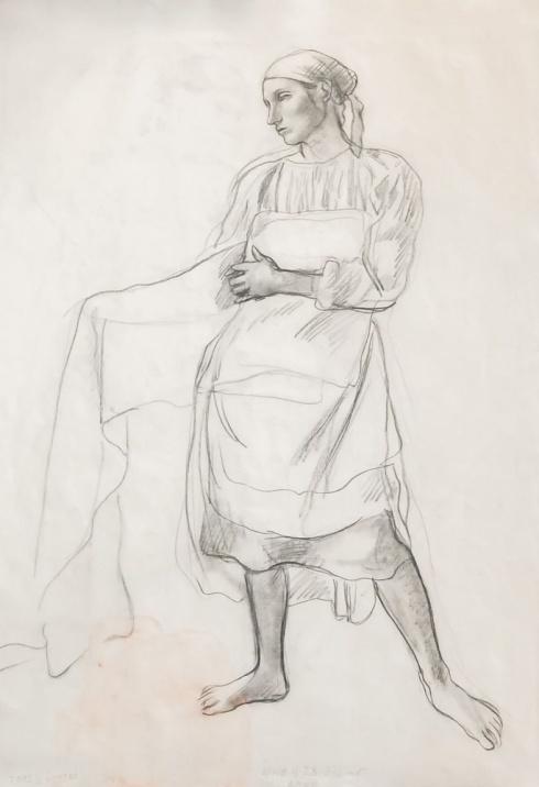 Рисунок к картине «Беление холстов»