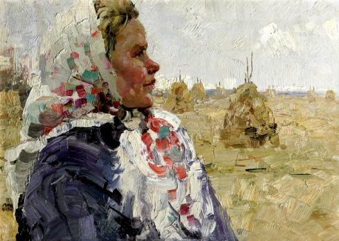 Портрет доярки Н.М. Рудаковой. 1968